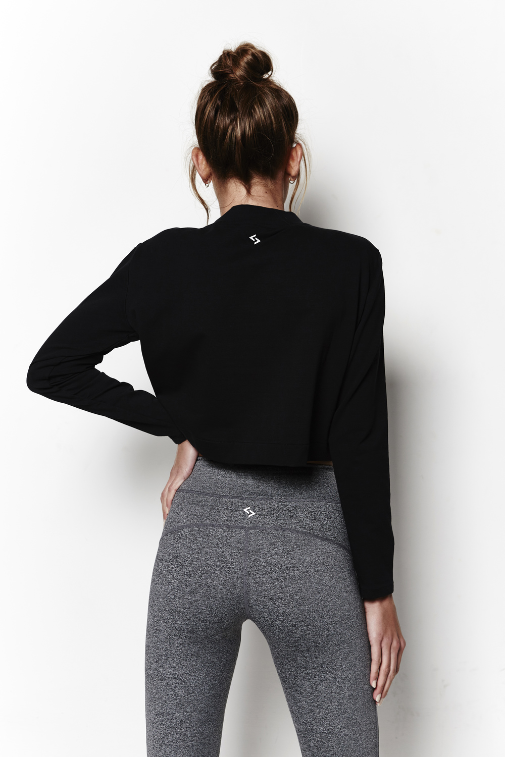 The All Day Crop Sweat - a chic layering piece which can be worn alone or over the top of your favourite white tee.