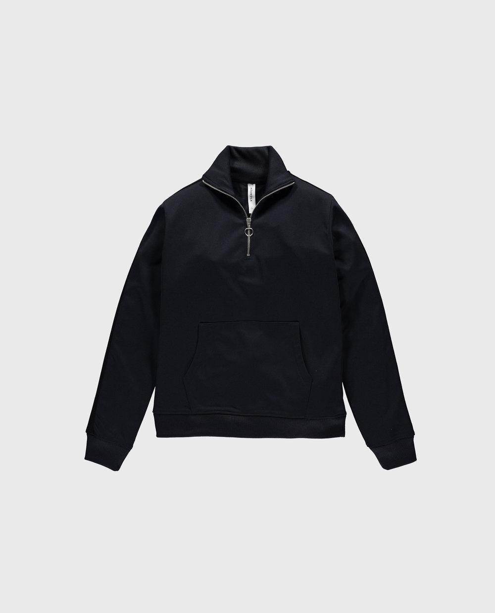 Track Half Zip - Navy/Black