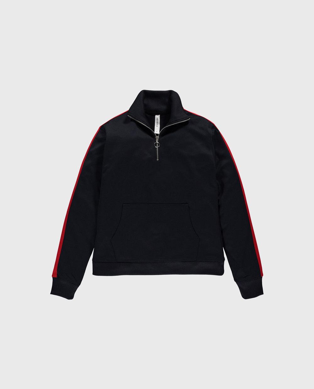 Track Half Zip - Navy/Red