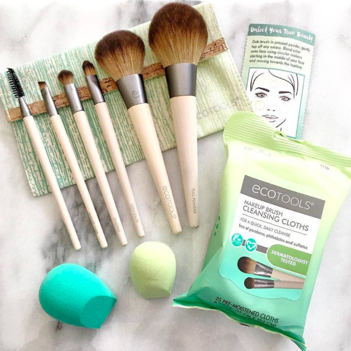 2. Eco Tools Eco Tools' collection of brushes, sponges, bath and body products and more are all cruelty free, made with recycled materials, 100% tree free packaging and renewable bamboo handles.