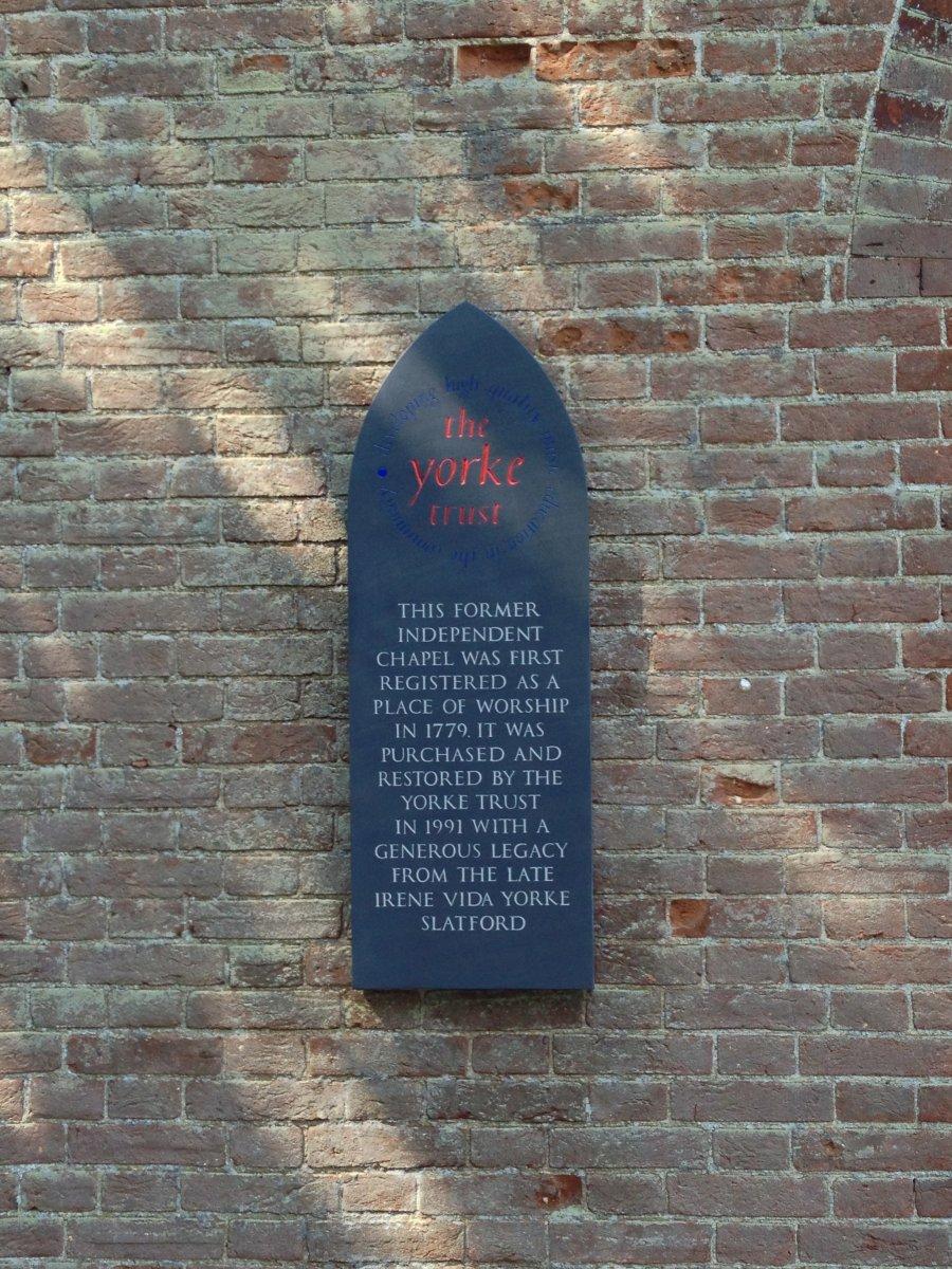 Yorke Trust plaque