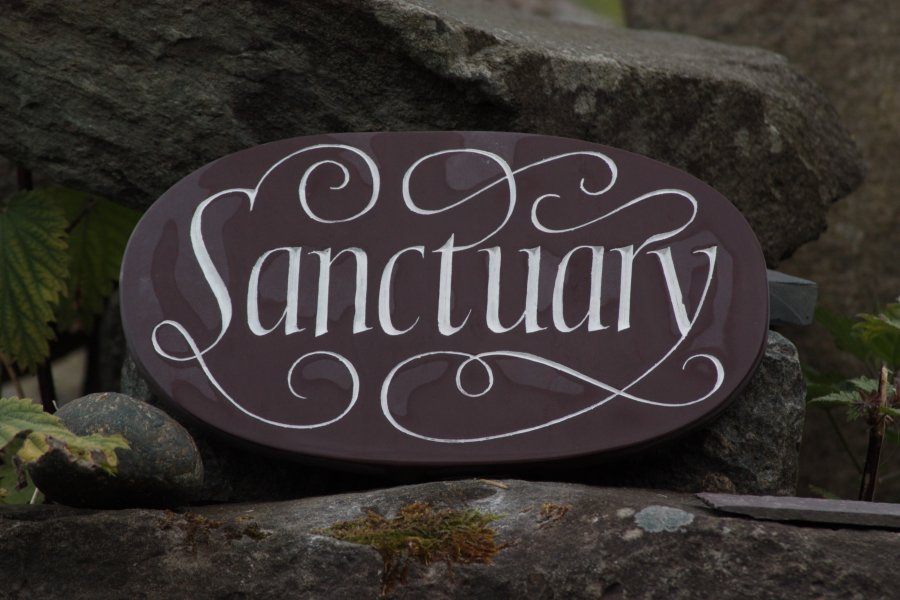 Sanctuary plaque