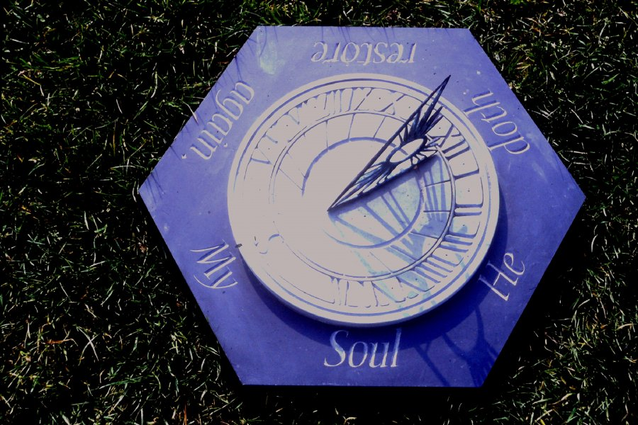 Sundial Gnoman by Ann Catrin Evans