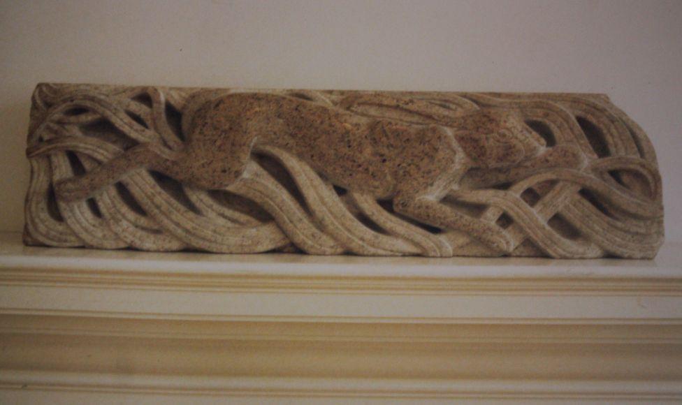 Melangell's Hare Derbyshire Limestone 24 inch x7inch