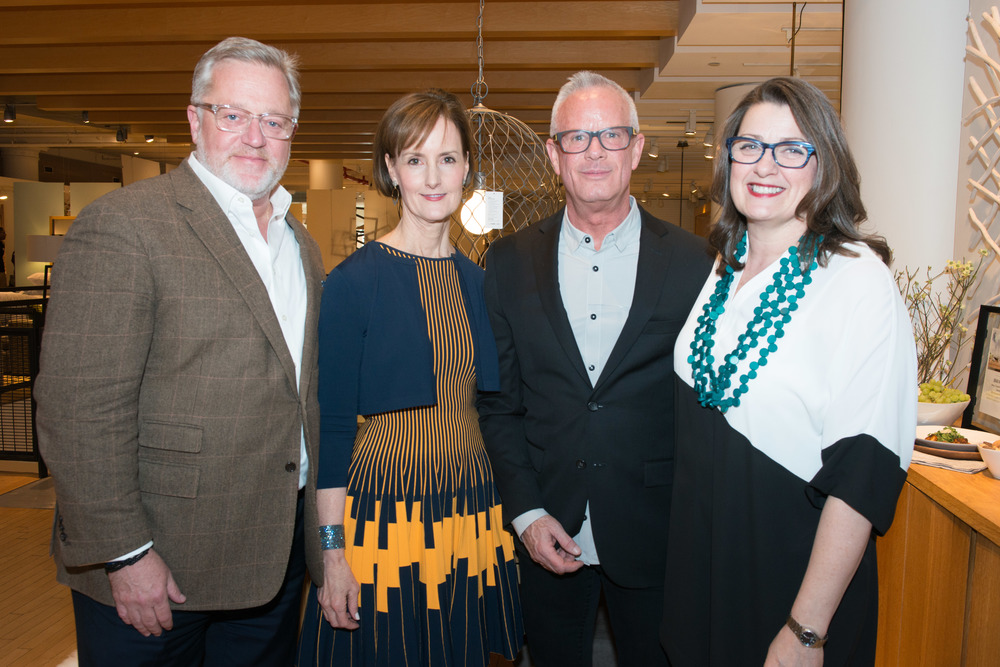 Newell Turner and Kate Kelly Smith of Hearst Design Group with Steve Woodward and Vicki Lang of Crate & Barrel