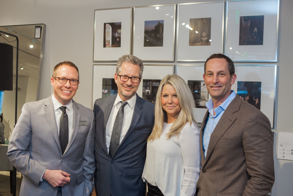 Dave Nash, Room & Board; Michael Boodro, Donna Schultz, David Hamilton of Elle Decor.