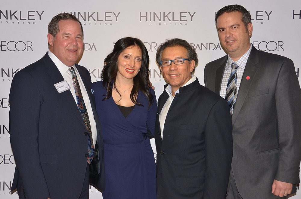 Jess Wiedemer, Sergio Orozco, and Rick Wiedemer of Hinkley Lighting