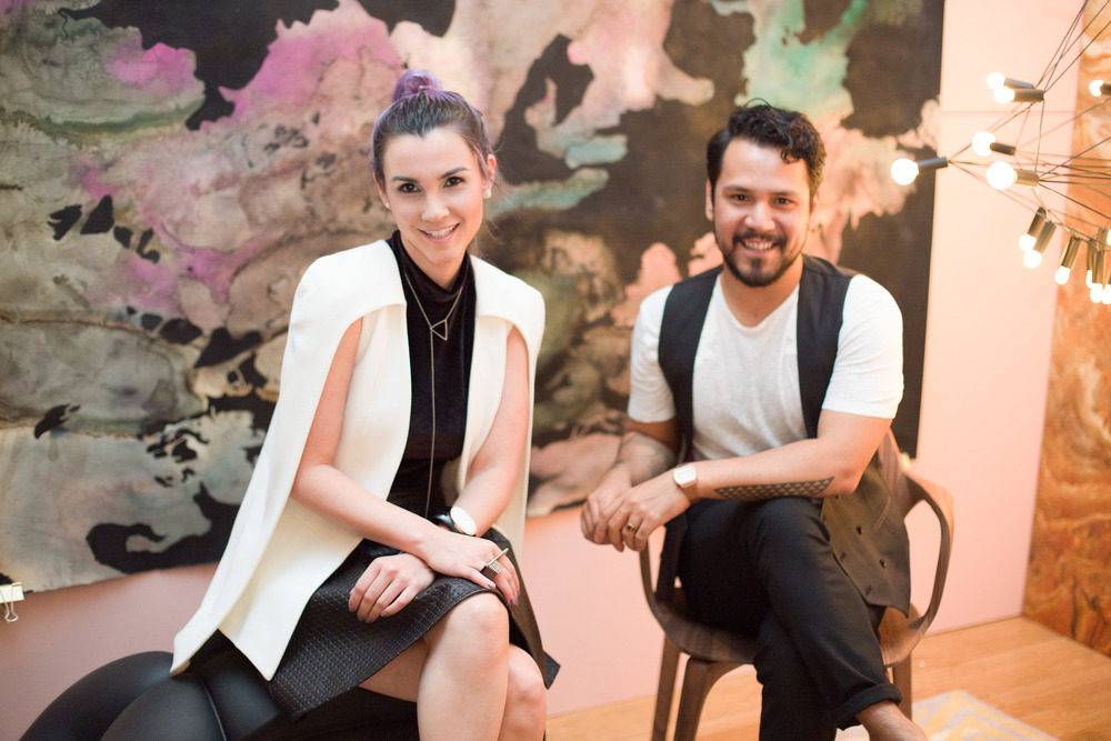 Dynamic Duo!   Designers Monica Arellano and Miguel Lewis.