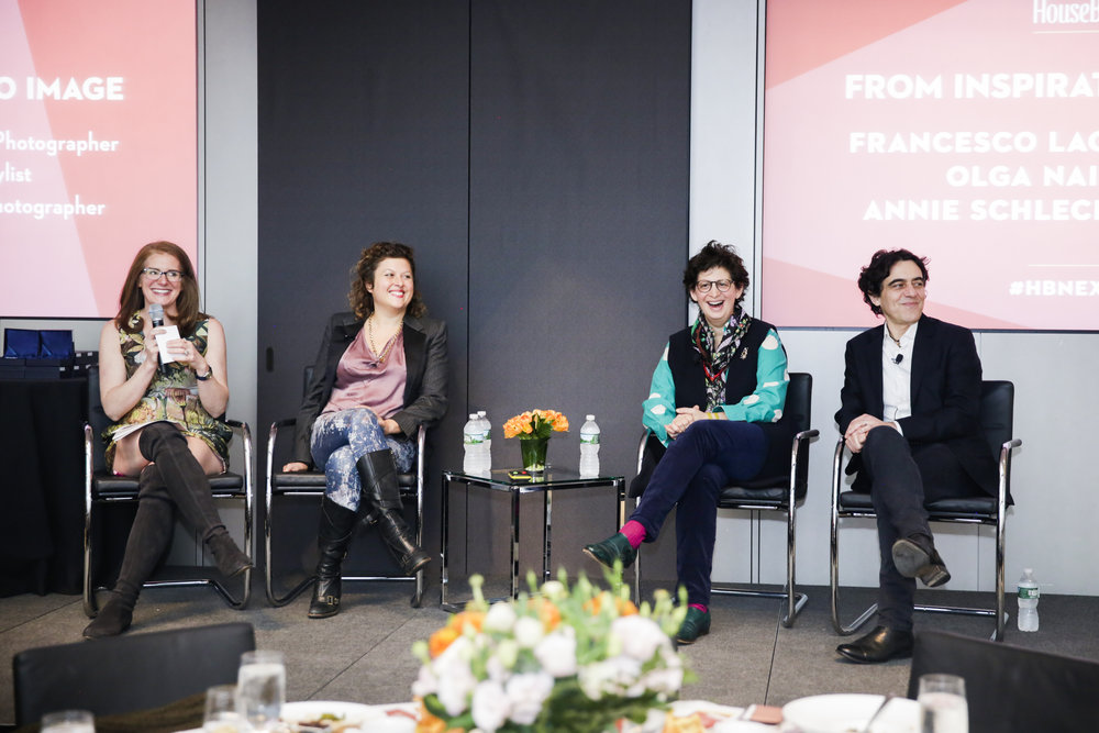 """From Inspiration to Image' Panel Discussion – Sophie Donelson, Olga Naiman, Annie Schlechter and Francesco Lagnese"