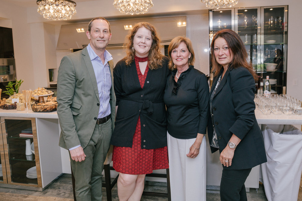 David Hamilton, SieMatic's Samantha Connell and Marcia Speer, and Stacey Piano