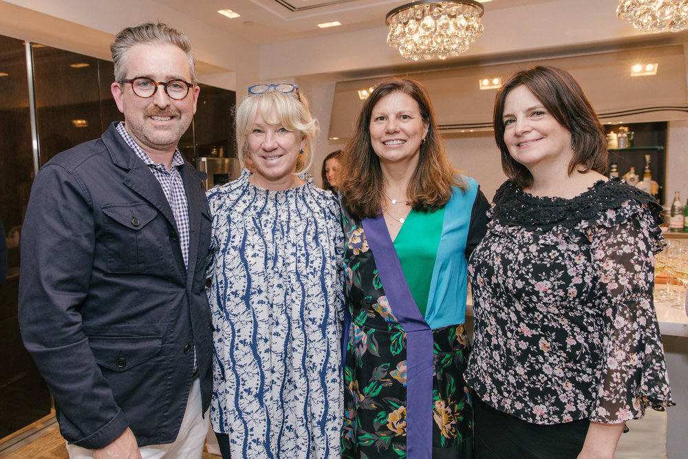 Veranda's Clinton Smith, and Carolyn Englefield, Kim Huebner, and SieMatic's Janine Flamer