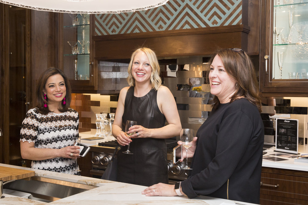 Nazira Handal of Kips Bay with Kohler's Betsy Froelich, and Beth Bouck