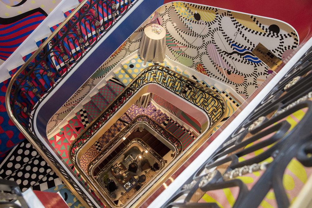 Sasha Bikoff's bold spiral staircase