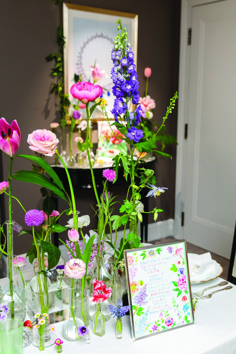 Whimsical floral display
