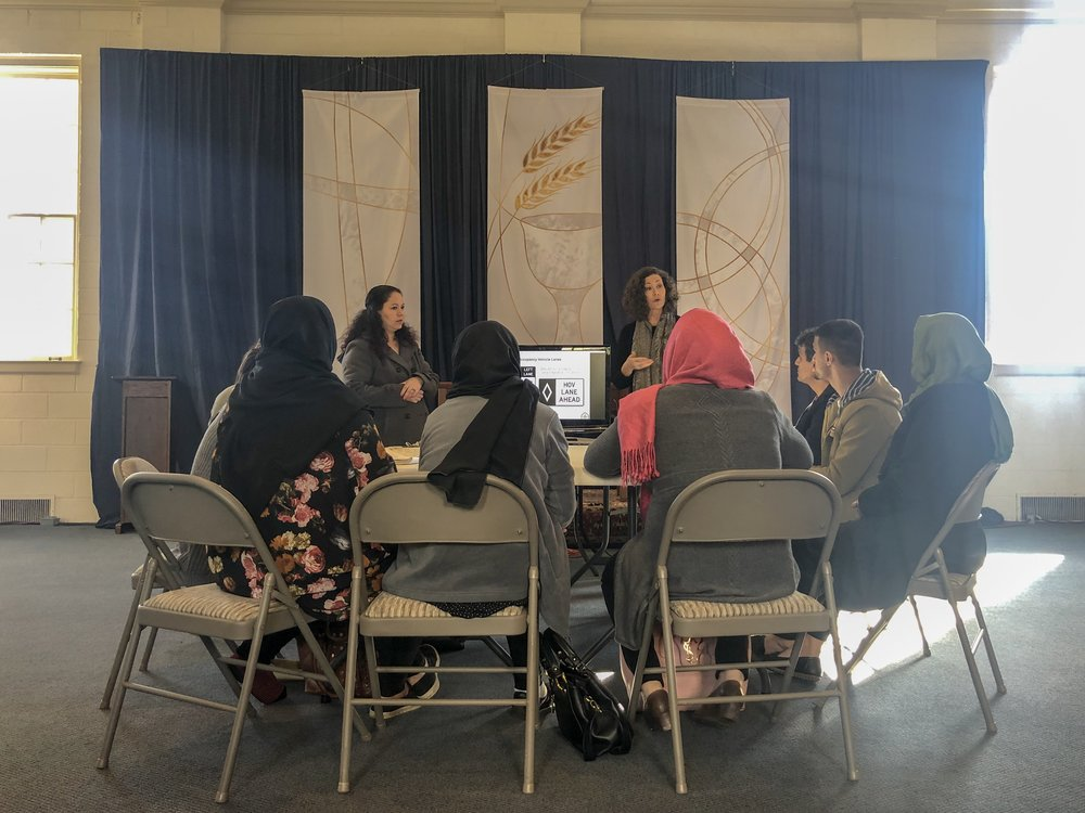 A learner's permit class taught by our Refugee Outreach Coordinator and interpreted into Dari