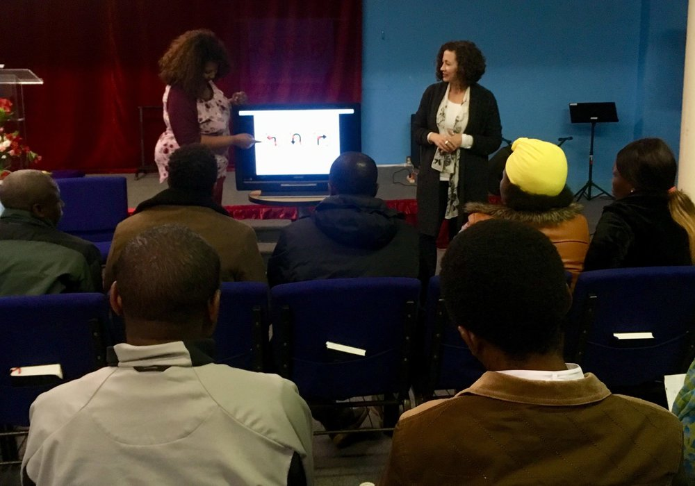 A learner's permit class taught by our Refugee Outreach Coordinator and interpreted into Swahili
