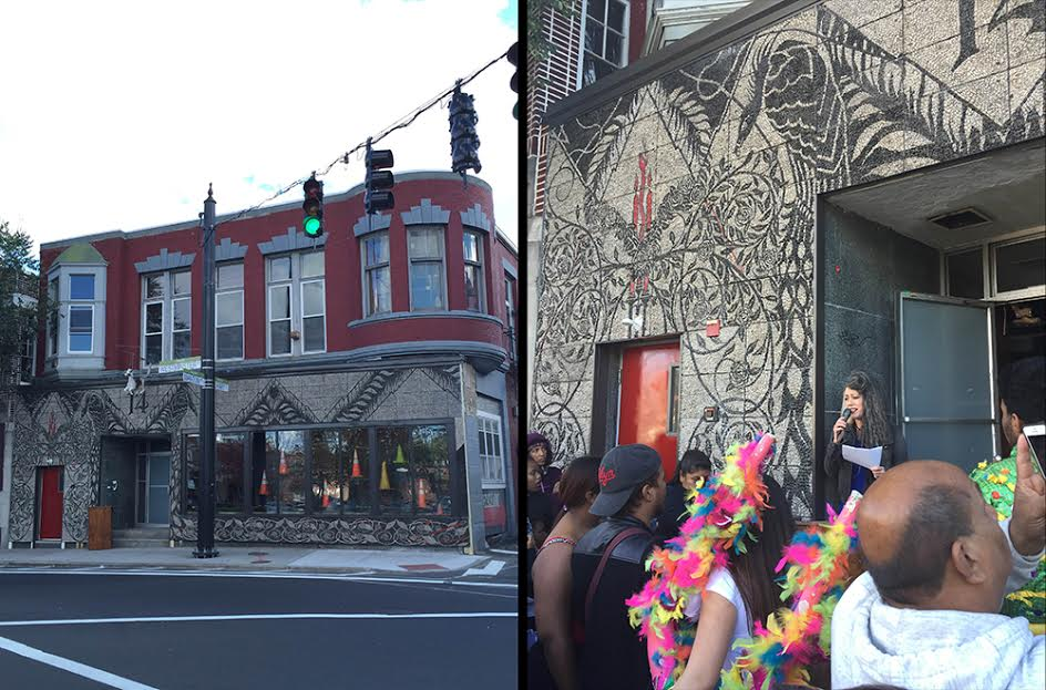 Pippi Zornoza (AP16) celebrated the unveiling of her public art piece, the Dirt Palace Facade Project, this past Saturday in Providence, Rhode Island.