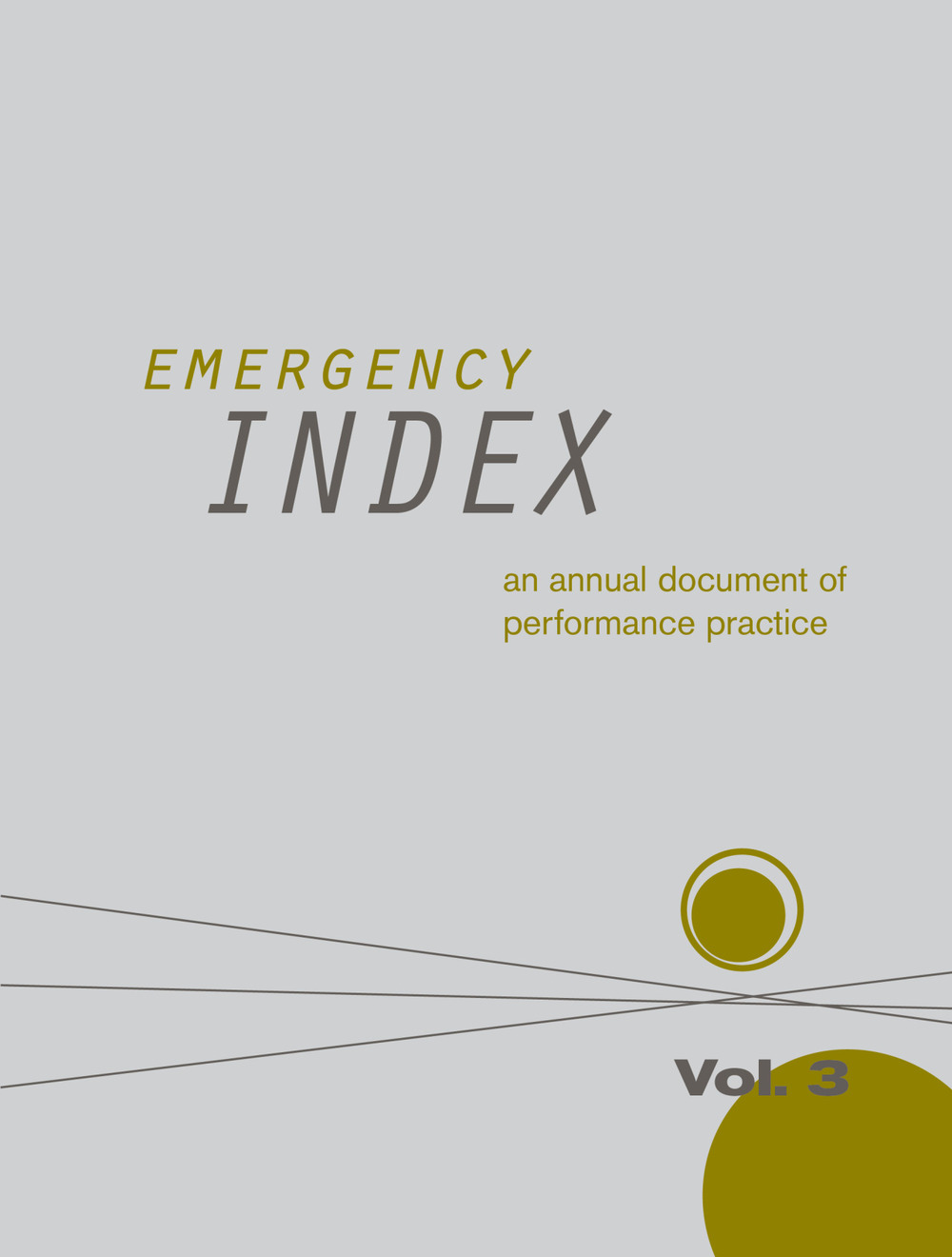 "Quinn Dukes  (MFA AP15) contributed to  ""EMERGENCY INDEX: AN ANNUAL DOCUMENT OF PERFORMANCE PRACTICE, VOL. 3""  which documents performative work within the past year. Check out her work as well as performance artists from around the world."