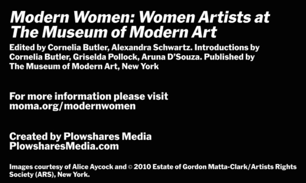 TBT!! In today's throwback we take a look at this  interview  with  Alice Aycock  (AP Mentor) in which she discusses her early work and women artists of the 70's. Enjoy!