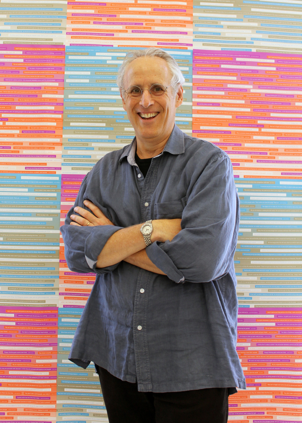 Those who know him, love him, and those that will come to meet him will love him as well!  Here  is a link to a TED talk by our one and only, the Art Practice Chair,  David A Ross  (AP Faculty) about how he entered the art world.