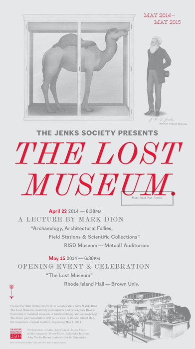 "Noelle King  (MFA AP13) has works included in  ""The Lost Museum""  exhibition presented by the Jenks Society at Brown University. The exhibition opens May 15th."