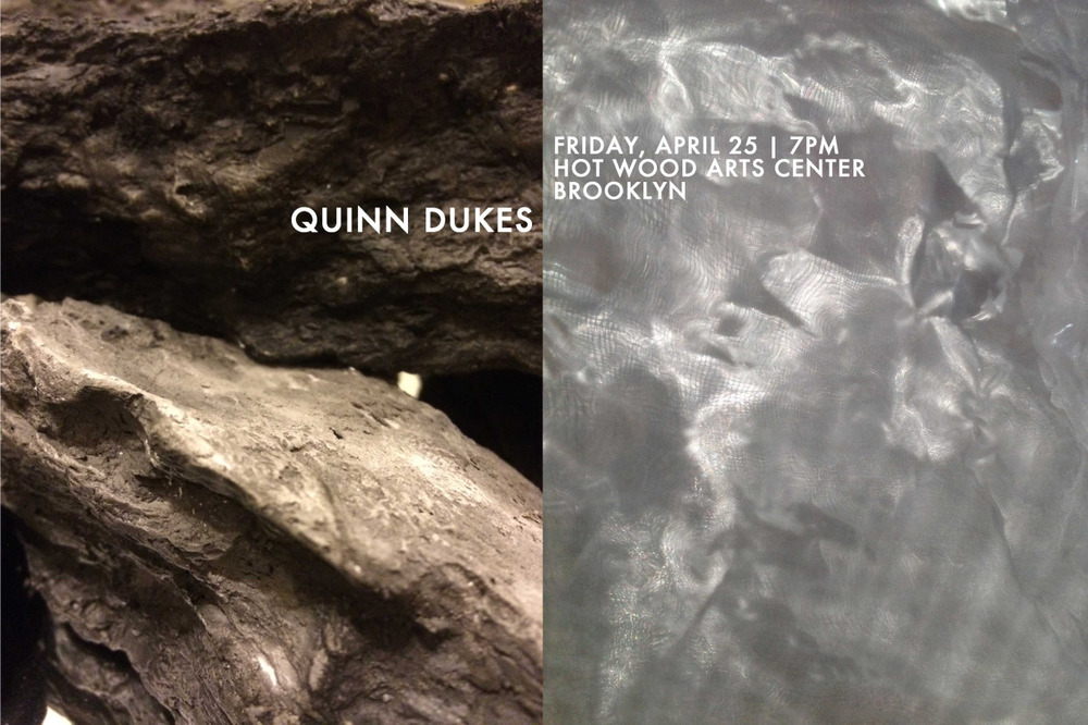 "Quinn Dukes  (MFA AP15) will present a live sound and performance art piece at 7:00pm on Friday, April 25th at the  Hot Wood Arts Center  in Red Hook, Brooklyn. The piece, inspired and driven by the ""Interdisciplinary Art: Theory, History, Practice"" course led by  Steven Henry Madoff , explores ritual, falseness and sound immersion."