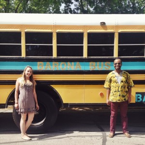 """Art Practice Participant  Leah Foster  (MFA AP14)  is blogging  about her current project, """"Barona Bus Tour,"""" in which she and Una Mulale drive an old school bus across the country, beginning in Texas at the Dallas Art Fair, and ending in NYC at the Open engagement Conference."""