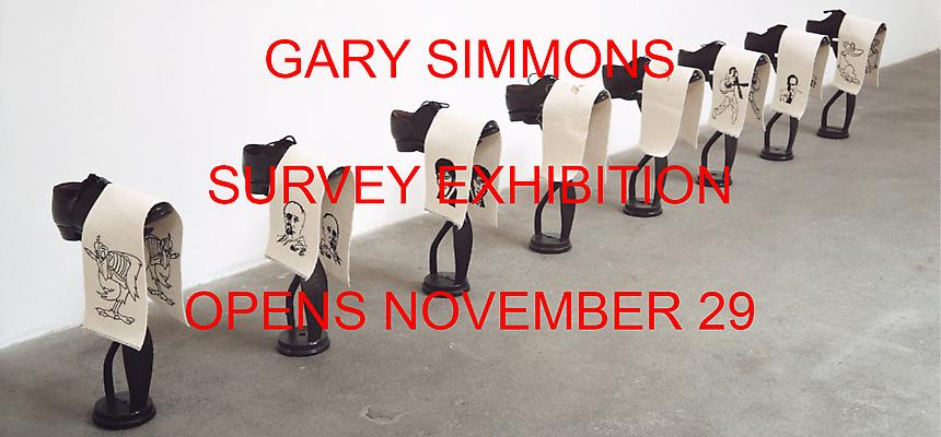 A survey exhibition of work by Art Practice Faculty member Gary Simmons opens on November 29th at  Metro Pictures . The show runs through January 19th.