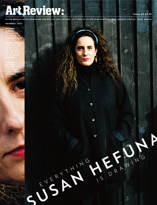 Art Practice Faculty member Susan Hefuna is featured in the  December edition of    Art Review  .