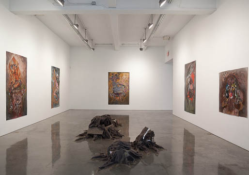 Wangechi Mutu,  Hunt, Bury, Flee  at Barbara Gladstone Gallery    Linda Yablonsky blogs for the    NY Times Style Magazine   about two current shows: Wangechi Mutu at Barbary Gladstone Gallery and Adam Helms at Marianne Boesky Gallery.