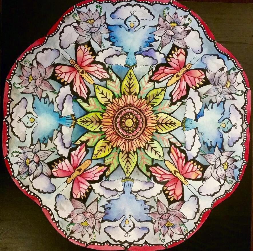 Nursery Mandala. 20_ x 20_. Watercolor and Ink on Paper.  10-40-16 5.jpg