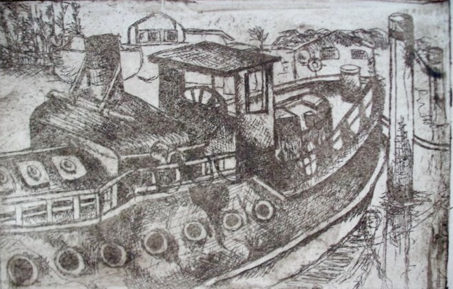 Smooth Waters. 4_ x 6_. Copper plate Etching. .jpg