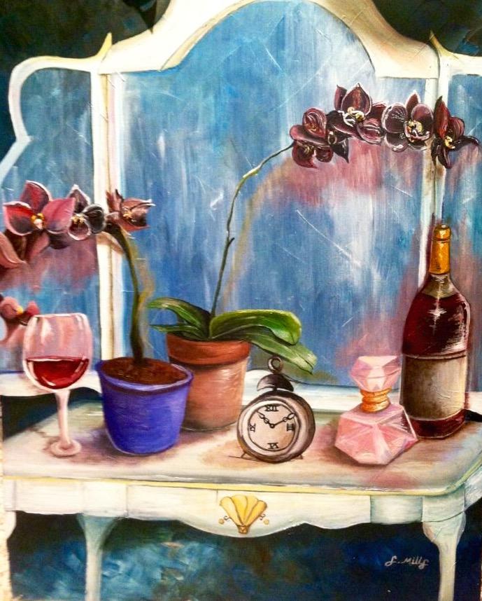 Vanity Still Life. 30_ x 24_. Oil on Canvas..jpg