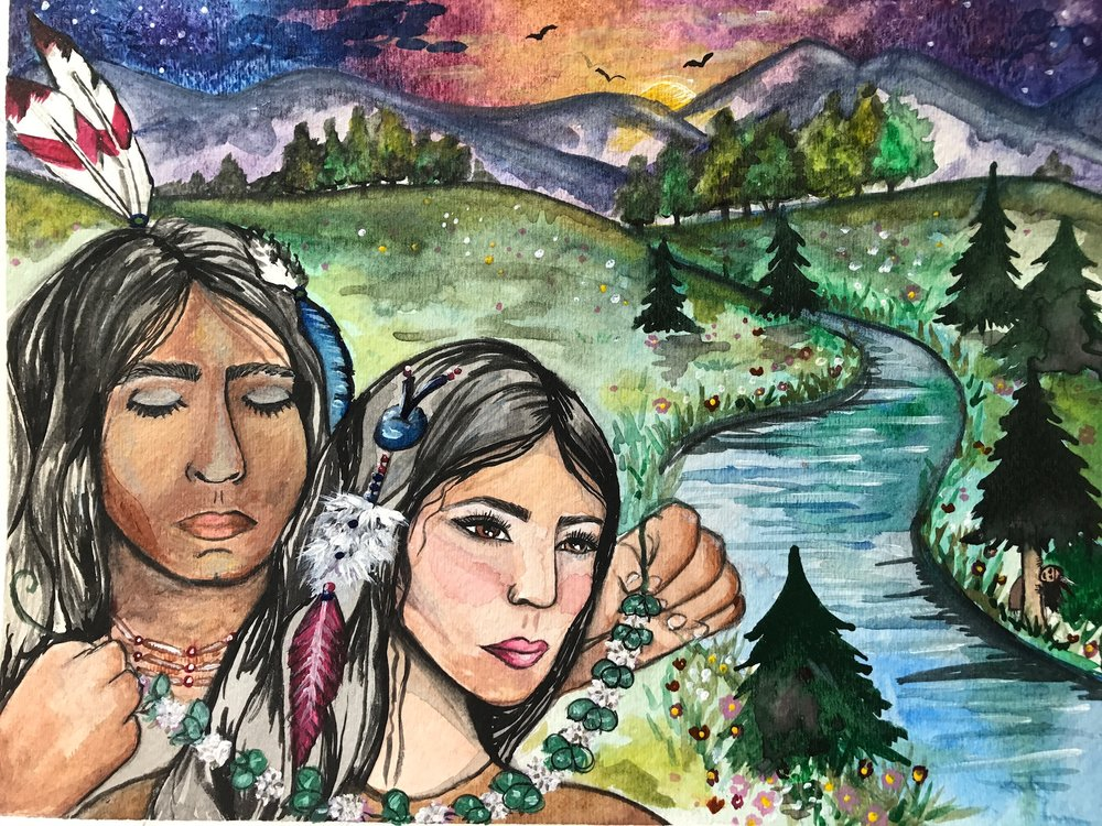 Illustration for  Kisses on the Wind  by Meg Kappel by artist and SASLLC owner Samantha Silvas