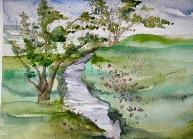 University of Idaho Series #2. 11_ x 14_. En Plein Air Watercolor. .jpg