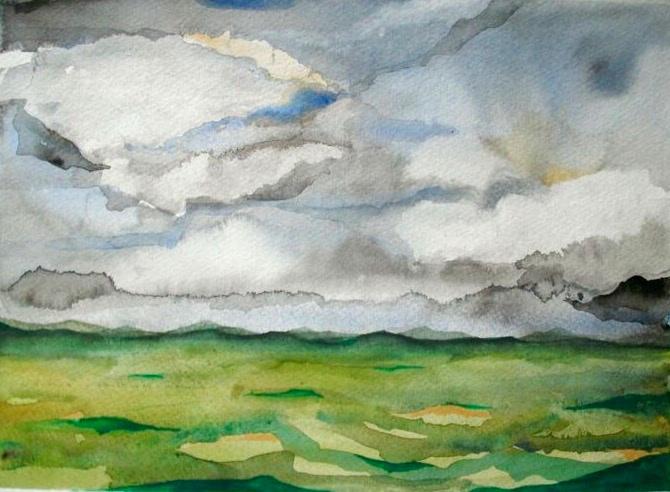 University of Idaho Series #3. 11_ x 14_. En Plein Air Watercolor.  .jpg