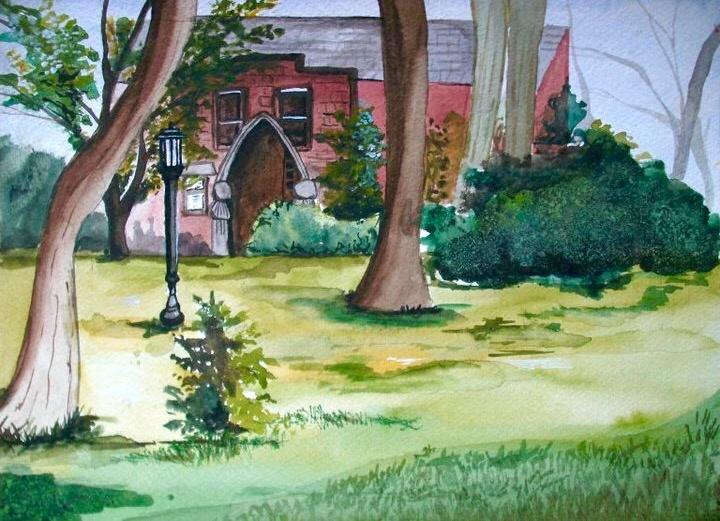 University of Idaho Series #I.  11_ x 14_. En Plein Air Watercolor.  .jpg