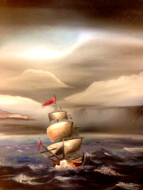 Away from the Storm. 36_ x 24_. Oil on Canvas.  10-40-16 5.jpg