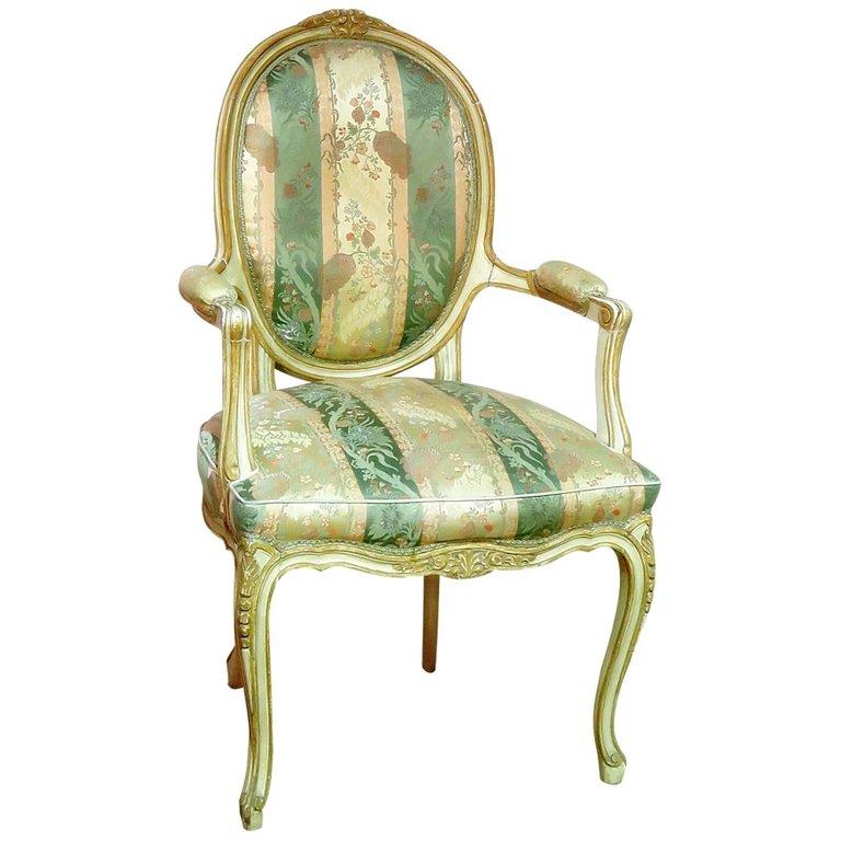 Vintage Design Fauteuil.Louis Xv Style Fauteuil Vintage Modern Design