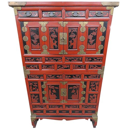 Antique Asian Cabinet - Antique Asian Cabinet — Vintage Modern & Design