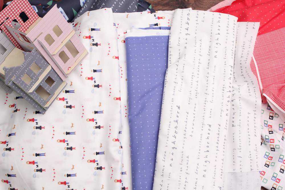 neighborhood - Alyson Beaton for Windham Fabrics, exploration of home, neighborhood and community as a fabric collection.