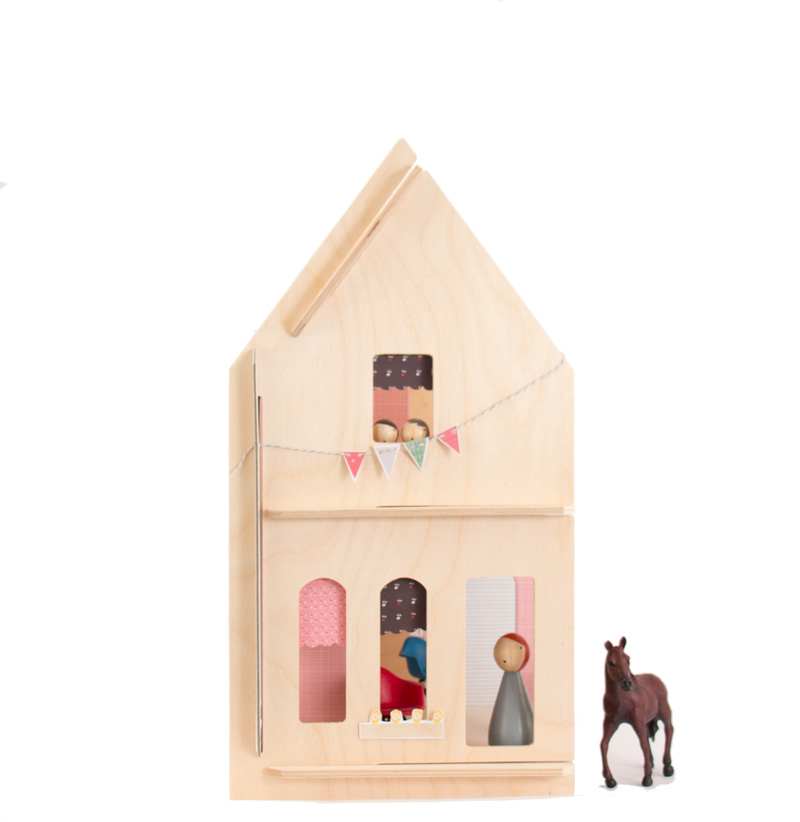 Lille Huset Langley Wooden Dollhouse