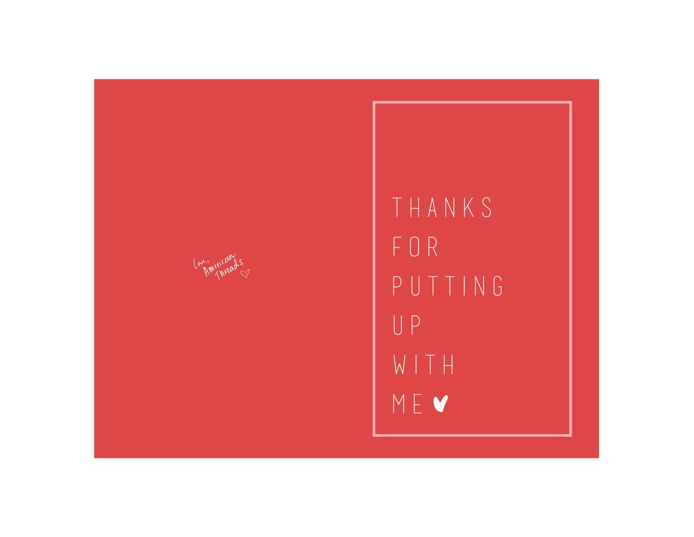 """""""Thanks For Putting Up With Me"""" // Click here to download!"""