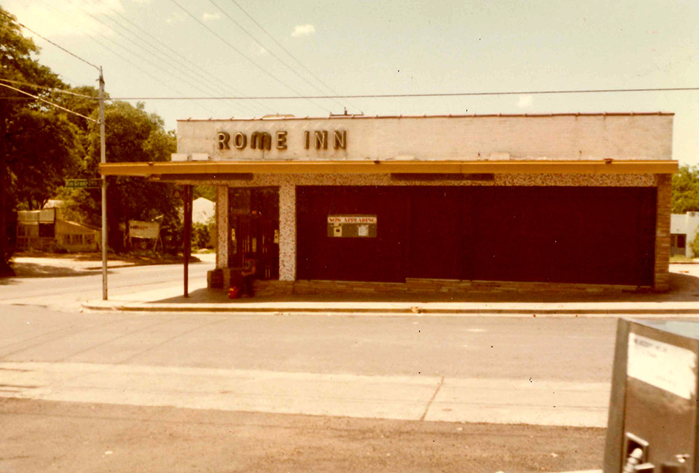 The Rome Inn original location on West 29th St. and Rio Grande  (where Texas French Bread is now)