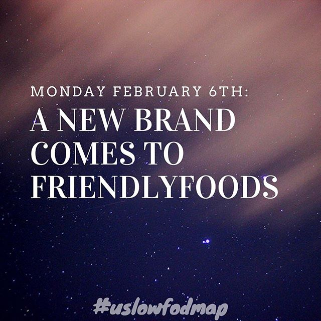 No one is ever excited for a Monday, but now we are!  Get ready for a new brand launching in the FriendlyFoods Store on Monday February 6th!  Limited supply only so get ready to shop! 🌟 🌟 🌟 #guthealth #digestivehealth #chronsdisease #lowfodmap #fodmap #fodmaps #ibs #irritablebowelsyndrome #ibsfriendly #fodmapfriendly #health #food #foodintolerance #nutrition #healthy #stomachaches #digestion