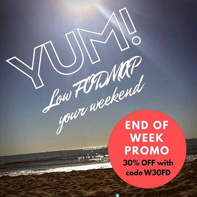 Use code W30FD to get 30% off your low FODMAP products for the weekend! Promo running until 4/3/17 * * * #digestive #digestion #stomachaches #fodmapfriendly #lowfodmap #lowfodmapdiet #ibs #ibsfriendly #fructosefriendly #fructose #fructosemalabsorption #irritablebowelsyndrome #health #food #snacks #fodmap