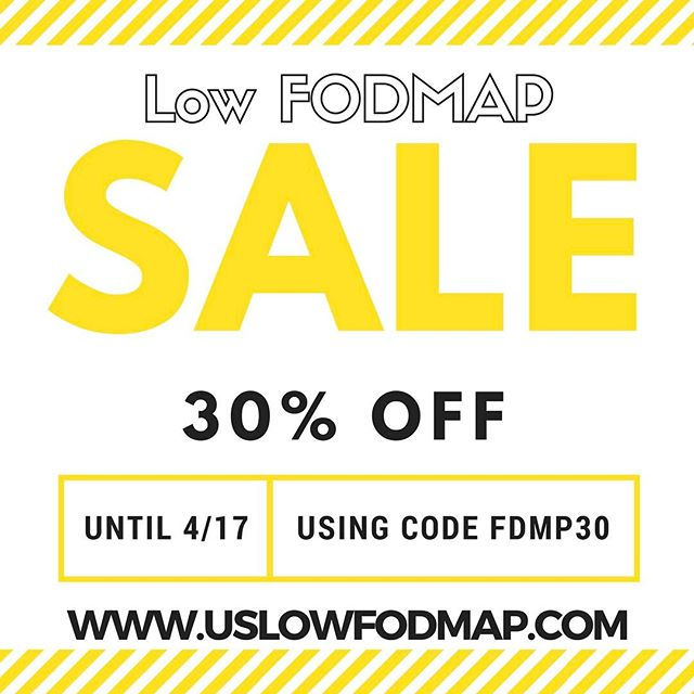 Spring sale!! 30% OFF all products using code FDMP30 at checkout! #lowfodmap #sale #fodmaps #ibs #foodintolerance #health #irritablebowelsyndrome