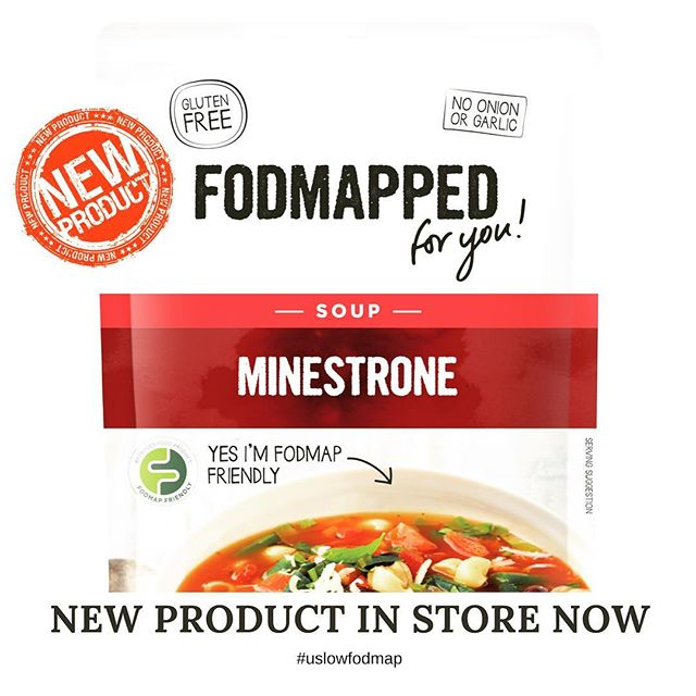 A delicious new Minestrone Soup by the awesome @fodmapped_ brand!  Check out the Friendly Foods store to get yours now!! #lowfodmap #uslowfodmap #fodmapped #lowfodmapdiet #fodmapdiet #ibs #irritablebowelsyndrome