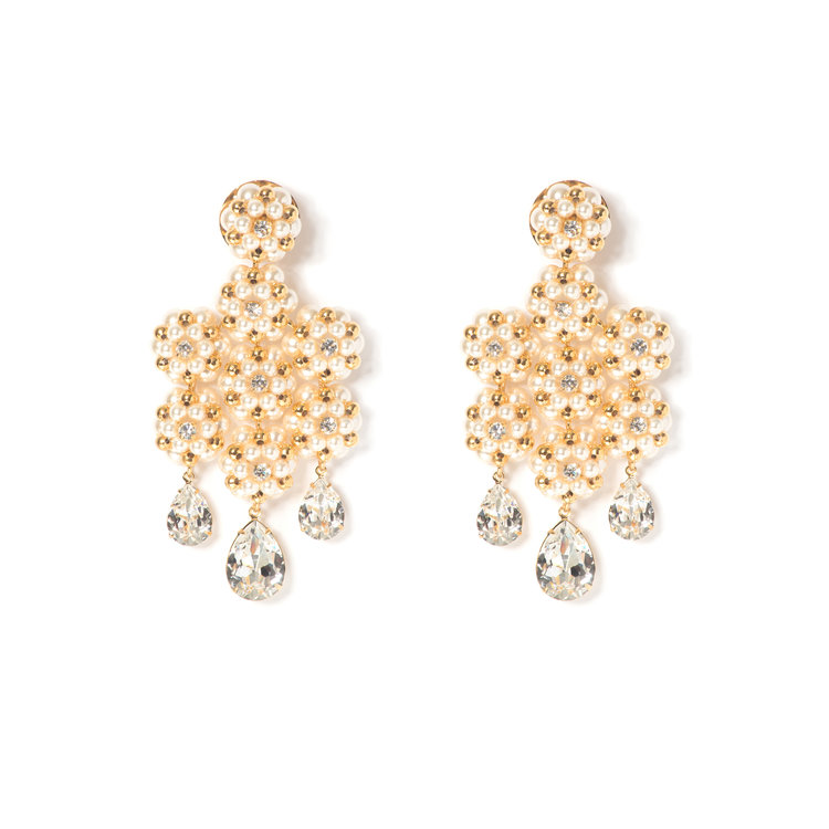 products grande earring gold in cascade earrings cascadeearringgold lady grey
