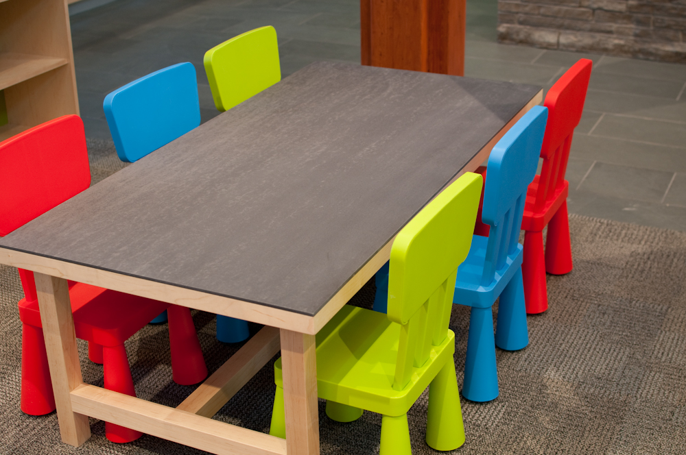 Gunmetal Kids Table